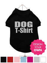A fun, funky and distinct dog t-shirt. Made from high quality, fine knit gauge, 100% cotton and features a velvelty-feel cotton-flock design.