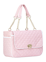 Katie Pet Carrier - A pet carrier and fashion statement all rolled into one! Our Katie Pet Carrier is especially designed to help you look fabulous and make your pet's journey as comfortable and as safe as possible. It has a beautiful quilted outer with a mesh window at one end and another across the top of the bag. Th...