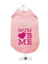 ''Mothers Day: Mum Loves Me'' Harness-Lined Dog T-Shirt